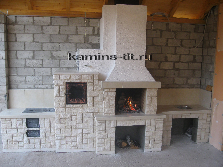 Печь барбекю с казаном духовкой и мангалом фото